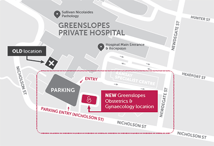 Greenslopes Obstetrics and Gynaecology map
